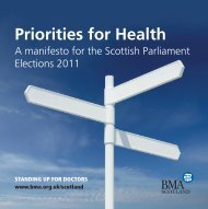 Priorities for health - BMA