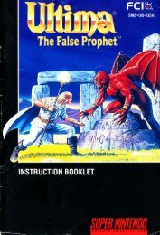 Ultima The False Prophet - Mike's RPG Center