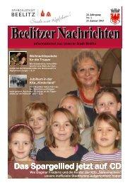 Beelitzer Nachrichten - Januar 2013