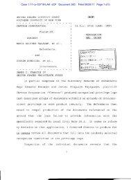 Chevron Corp. v. Salazar (S.D.N.Y. 2011) - Letters Blogatory