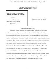 Chevron Corp. v. Republic of Ecuador (D.D.C. ... - Letters Blogatory