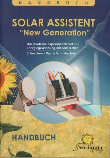 Solar-Experimentierkasten New Generation I - Vireo.de