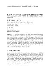 A NEW DETECTION ALGORITHM BASED ON CFAR FOR ... - PIER