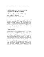 Novel miniaturized Wilkinson power divider for 3G mobile ... - PIER