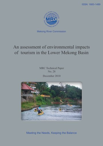 An assessment of environmental impacts of tourism in the Lower ...