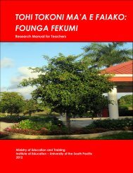 tonga institute of education - USP Electronic Research Repository ...