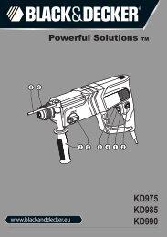 Instruction Manual - Service - Black & Decker