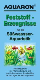 Süßwassser- Aquaristik - AQUARÖN