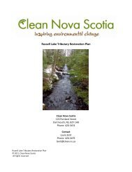 Russell Lake Tributary Restoration Plan - Clean Nova Scotia