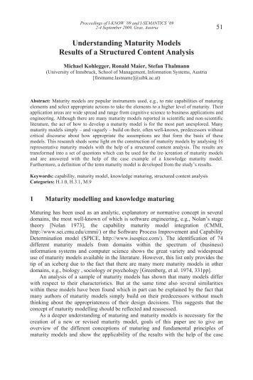 PDF - Understanding Maturity Models - MATURE IP