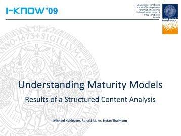 Understanding maturity models - MATURE IP