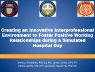 Creating an Innovative Interprofessional Environment to Foster ...