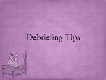Debriefing Tips