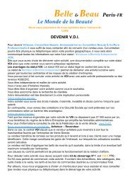 Devenir VDI Belle & Beau Paris - EuroBusiness-partners