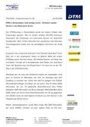 Pressemitteilung als PDF zum Download - Motorsport Arena ...