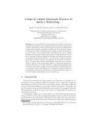 Código de calidad: Integrando Patrones de dise˜no y Refactoring *