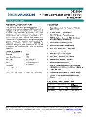 DS26556 4-Port Cell/Packet Over T1/E1/J1 Transceiver - Maxim