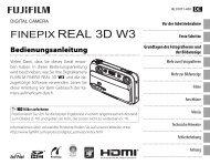 Handbuch FINEPIX Real 3D W3 - Digitalkameras