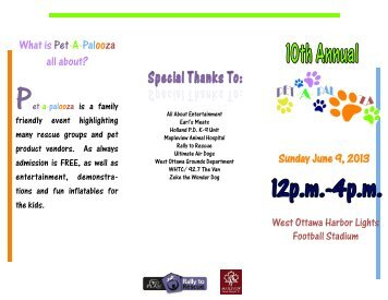 What is Pet-A-Palooza all about? Sunday June 9, 2013