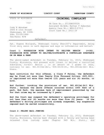 criminal complaint