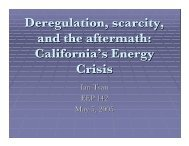 Deregulation, scarcity, and the aftermath: California's Energy Crisis
