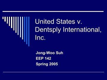 United States v. Dentsply International, Inc.