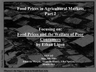 Food Prices and the Welfare of Poor Consumers - Agricultural and ...
