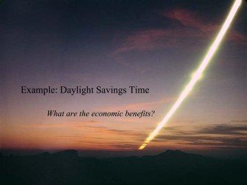 Example: Daylight Savings Time