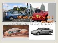 What car should I drive?