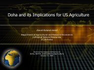 Doha and Agriculture - Agricultural and Resource Economics