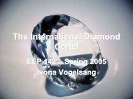 The International Diamond Cartel
