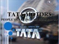 Tata Motors People's Car | Jaguar & Land Rover EEP 142 – Spring ...