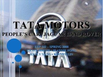 Tata Motors People's Car   Jaguar & Land Rover EEP 142 – Spring ...