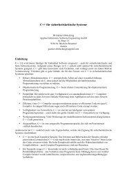 C++ für sicherheitskritische Systeme - Applied Informatics