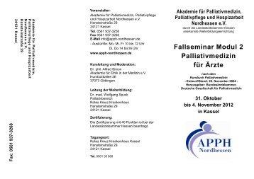 Fallseminar Modul 2 Palliativmedizin für Ärzte - Akademie für ...