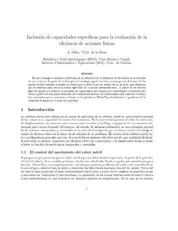 Inclusion de capacidades especificas para la evaluacion de la ...