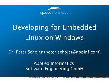 Developing for Embedded Linux on Windows - Applied Informatics