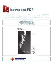 Manual do usu嫫io TOSHIBA RL938 - INSTRUCOES PDF