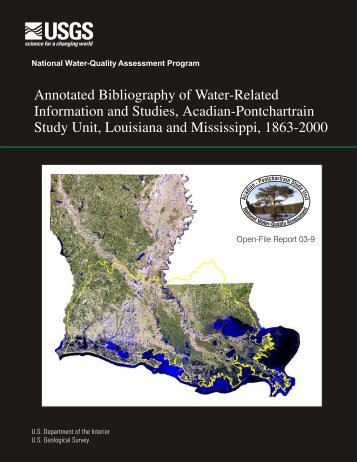 Annotated Bibliography of Water-Related Studies, Acadian ...