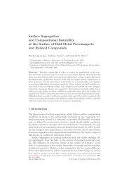 Surface Segregation and Compositional Instability at the Surface of ...