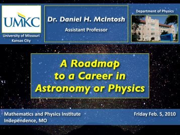 A Roadmap to a Career in Astronomy or Physics - College of Arts ...