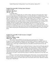 Spring 2013 course list [pdf] - College of Arts and Sciences
