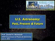 U.S. Astronomy: Past, Present & Future - College of Arts and Sciences