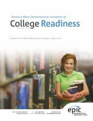 Toward a More Comprehensive Conception of College Readiness