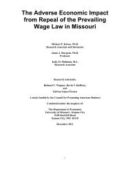 Prevailing Wage Study - College of Arts and Sciences - University of ...