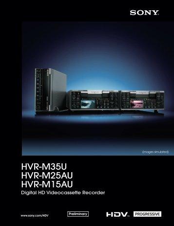 HVR-M35U HVR-M25AU HVR-M15AU - VideoCorp