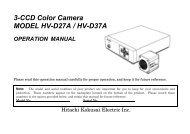 3-CCD Color Camera MODEL HV-D27A / HV-D37A OPERATION ...
