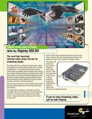 With the Osprey-500 DV - Computer Modules, Inc.