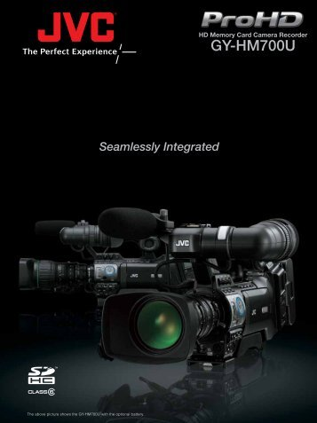 16 page color brochure on the GY-HM700U - JVC