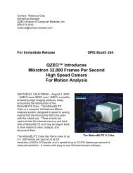 Latest Info on the MotionBLITZ® High Speed Motion Analysis Cube